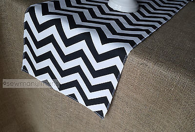 Black and White Table Runner Chevron Table Centerpiece Retro Home Decor Linens