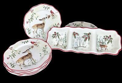 BETTER HOMES & GARDENS HERITAGE 7 PIECE CHRISTMAS HOLIDAY DINNERWARE SET Christmas Holiday Dinnerware