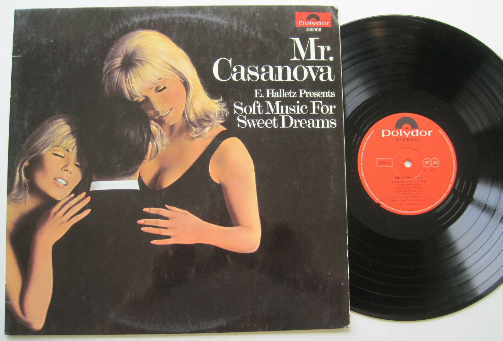 LP Erwin Halletz ‎– Mr. Casanova - VG++ Appartement 00 Sex / Pyjama Party