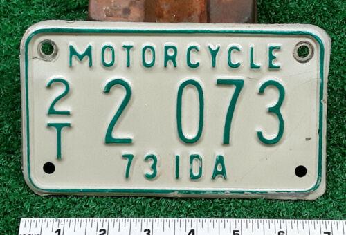 IDAHO - 1973 motorcycle license plate - very nice all original