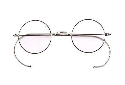 Agstum Retro Small Round Optical Rare Wire Rim Eyeglasses Fr