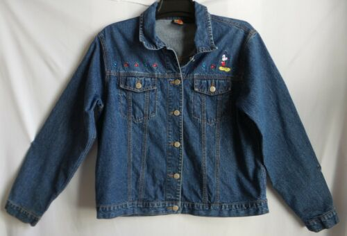 Disney MICKEY UNLIMITED, size XL  button front embroidery denim jean jacket
