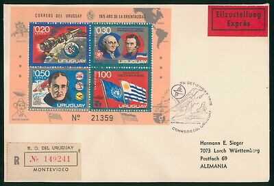 MayfairStamps Uruguay 1975 Montevideo to Germany Aviation Lufthansa First Flight