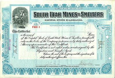 South Utah Mines & Smelters 1910 RARITÄT