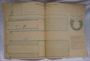 1867 Paris Universal Exhibition Steam Engine Fixed Tubular Boiler Sectional Plan - France - État : Occasion : Objet ayant été utilisé. Objet présentant quelques marques d'usure superficielle, entirement opérationnel et fonctionnant correctement. Il peut s'agir d'un modle de démonstration ou d'un objet retourné en magasin aprs un - France