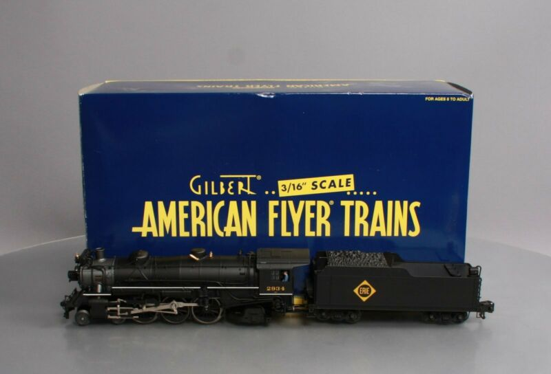 American Flyer 6-48052 S Scale Erie 4-6-2 Pacific Steam Locomotive & Tender LN