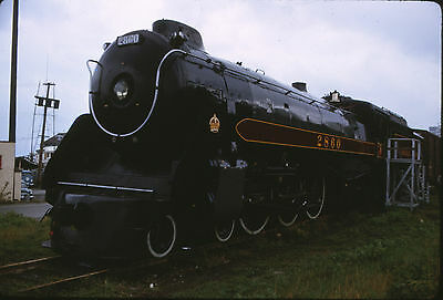 1965 Canadian Pacific 4 6 4 Royal Hudson  2860   Original 35Mm Railroad Slide