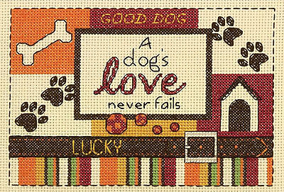 Cross Stitch Mini Kit ~ Dimensions A Dog's Love Never Fails Saying #70-65124