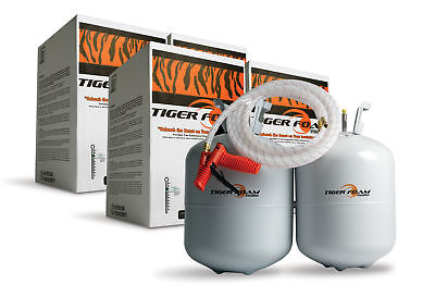 2 Tiger Foam 600bdft Slow Rise Spray Foam Insulation Kits - Free Shipping