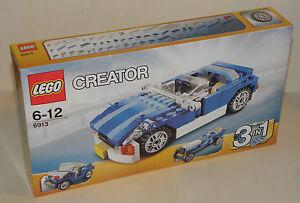Lego Creator 6913 BLAUES CABRIOLET Roadster Geländewagen Oldtimer-Rennwagen NEU
