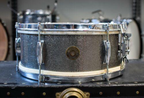 """1960s Gretsch 5.5x14 """"Dixieland"""" Starlight Sparkle Snare Drum"""