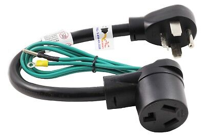3-Prong to 4-Prong Dryer Plug Adapter NEMA 14-30P to NEMA 10-30R by AC WORKS™