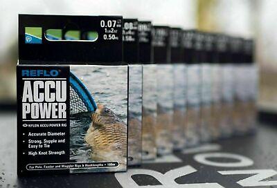 Preston Innovations Reflo Accu Power Rig Mono Fishing Line All sizes NEW