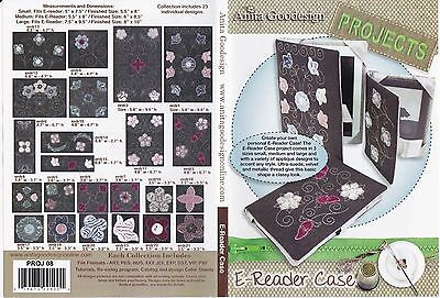 Anita Goodesign E-Reader Case Embroidery Machine Design CD N