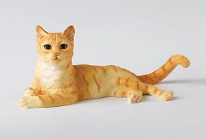 A24813 Border Fine Arts Studio Ginger & White Cat Lying Figurine NEW  18815