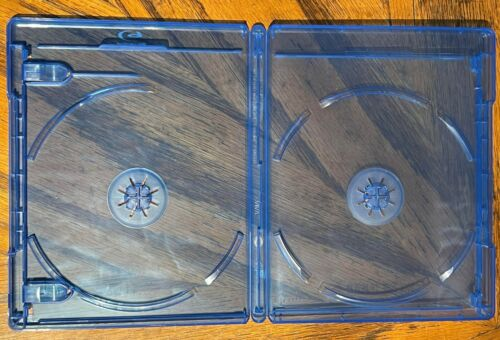 10 DOUBLE Blu-ray Replacement Cases with LOGO 12mm 2-Disc Double W Logo RECYCLED