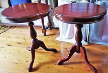 2 Stained Wood Mahogany/Oak Side Tables Westmead Parramatta Area Preview