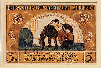 Altrahlstedt -Liliencron-Gesellsch.- 5 Mark m. DOPPELTEM Aufdr. (bis 15.12.1922)