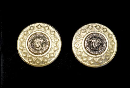 "Genuine Versace Medusa Cufflinks 15mm 5/8"" Exquisite"