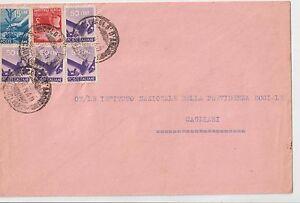 ITALIA-1949-LETTERA-CON-DEMOCRATICA-MULTI-AFFRANCATA-PER-CAGLIARI