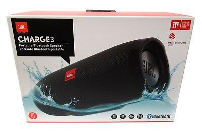 JBL Charge 3 Waterproof Portable Bluetooth Speaker (Black) *CHARGE3BLK