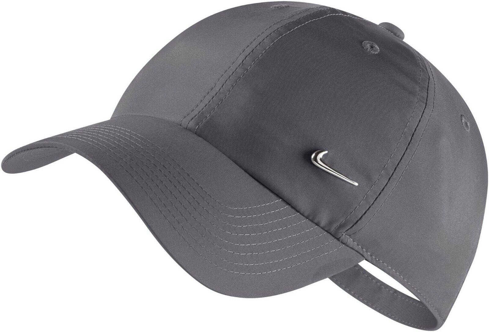 Nike Mens Baseball Cap Metal Logo Swoosh Hat Golf Embroidery Adjustable Caps