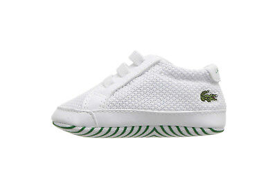 Lacoste Crib 318 Baby Shoes 7-36CAB0001082 - White/Green Lacoste Infant Shoes