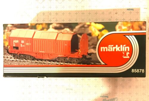 Märklin Marklin 1 Gauge 85878 DB Telescopic Wagon & 3 Steel Rolls OB