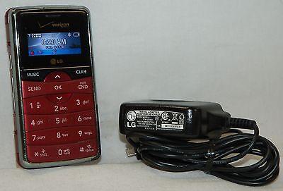 LG EnV2 Verizon Phone Qwerty Slide-out Keyboard VX9100M BURGANDY 2MP Camera -C-