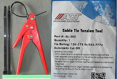 Cable Zip Ties Automatic Tension Cut Off Tool for 120lb - 175lb Cable Zip Ties