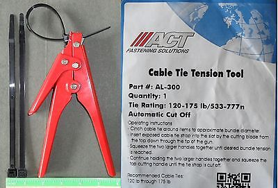 Cable Zip Ties Automatic Tension Cut Off Tool for 120lb -