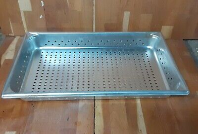 Vollrath 30023 Super Pan V Full Size 2.5 Deep Steam Table Hotel Perforated Pan