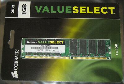 1GB CORSAIR ValueSelect DDR1 RAM 400MHz PC3200 DIMM 184-pol.CL3 VS1GB400C3 NEU