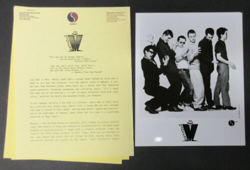 MADNESS One Step Beyond 1980 US Promo PRESS KIT Specials SKA Nutty Boys PUNK