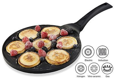Gourmia Gpa9515 Blini Pan Pancake Maker With Induction Bottom Nonstick   7 Mold