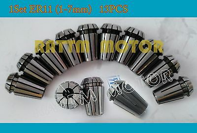 13pcs Er11 Collet Spindle Motor Collet Milling Lathe Tool For Cnc Router Machine