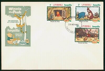 Mayfairstamps Anguilla FDC 1982 Winnie the Pooh Combo First Day Cover wwo_68951
