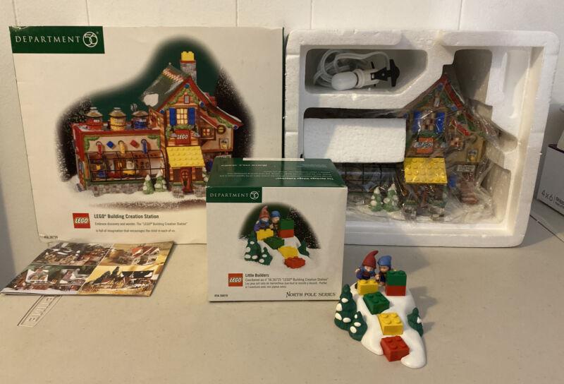 Dept 56 North Pole LEGO Building Creation Station 56735 Little Builders 56810