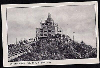 Vintage Antique Postcard Summit House, Mt. Tom, Holyoke, Mass. - Souvenir Unused Vintage Postcard House