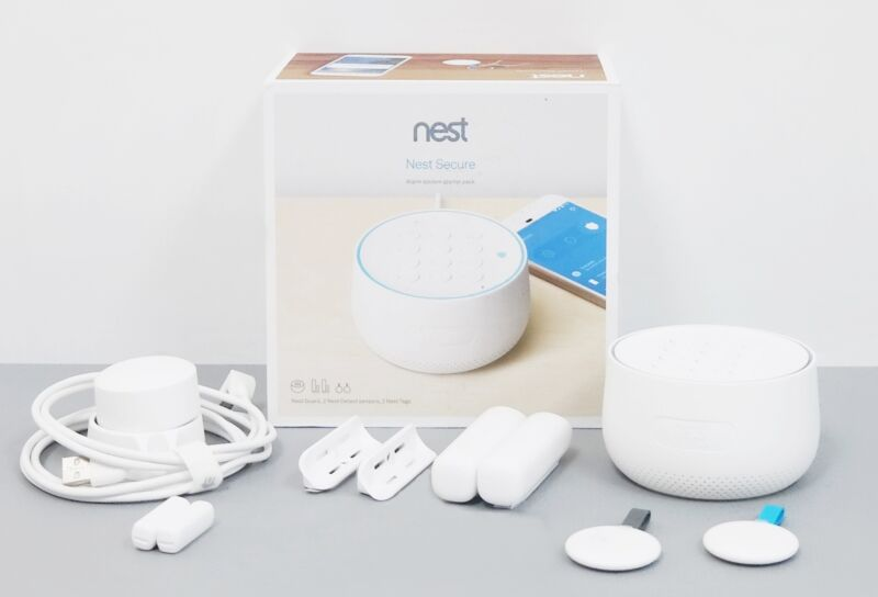 Nest Secure H1500ES Alarm System Starter Pack - White