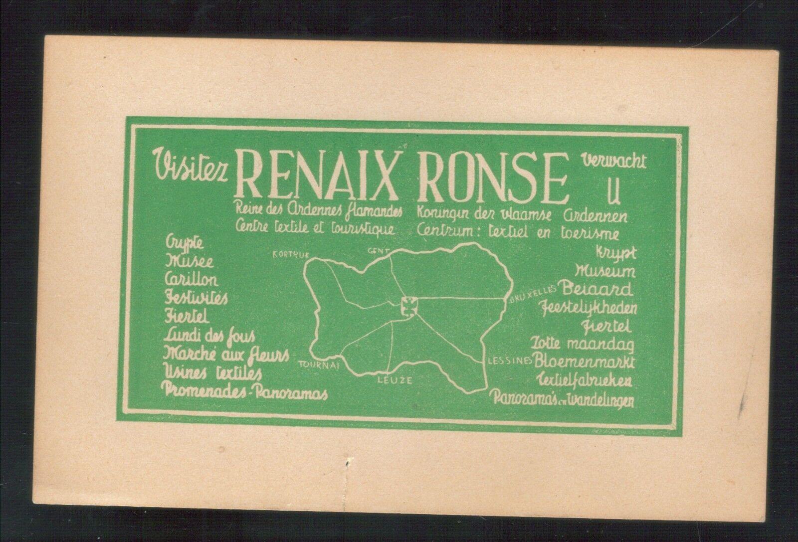 """oude postkaart van Renaix en Ronse,zie foto""""s ,B 31 ,,"""