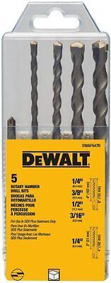 Dwaf5470 5-piece Dewalt Sds Plus Carbide Tipped Roto Hammer Drill Bit Set