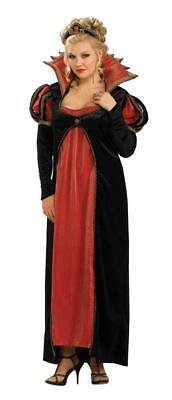 Scarlet Vamptessa Costume Early 19th Century Blk/Red Empire Waist Gown Plus Size](Halloween 19 Century)