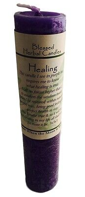 Healing Candle Coventry Creations - Blessed Herbal Healing 7x1.5 Pillar Candle
