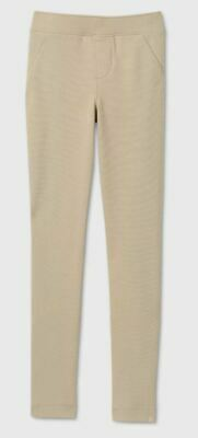 Girls' Stretch Uniform Ponte Jeggings - Cat & Jack™ Khaki, Size XL (14/16)