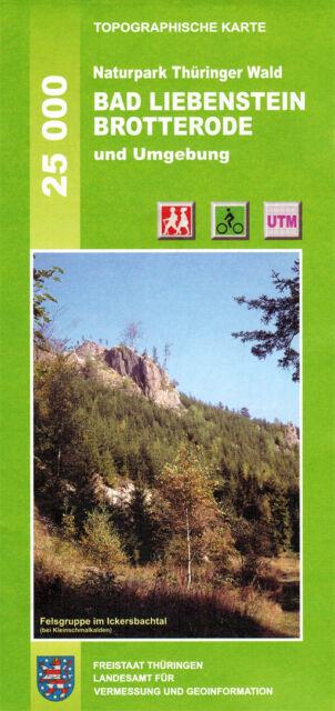 Wanderkarte Bad Liebenstein, Brotterode im Naturpark Thüringer Wald / WK 1:25000