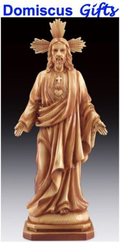 """13"""" New! Religious JESUS Figurine Wood-Carved Statue Collectible Christian"""