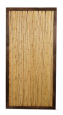 Bamboo Cane Framed Garden Fence Panel 6ft x 3ft Screening Fencing Wooden Wood