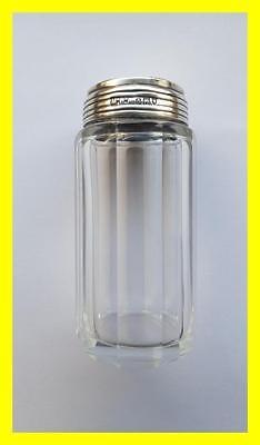 MAPPIN WEBB VICTORIAN SILVER LIDDED GLASS VANITY JAR, FOR CUFFLINKS OR TRINKETS