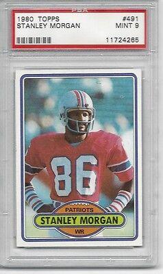 1980 Topps  491   Stanley Morgan   Psa 9    Patriots